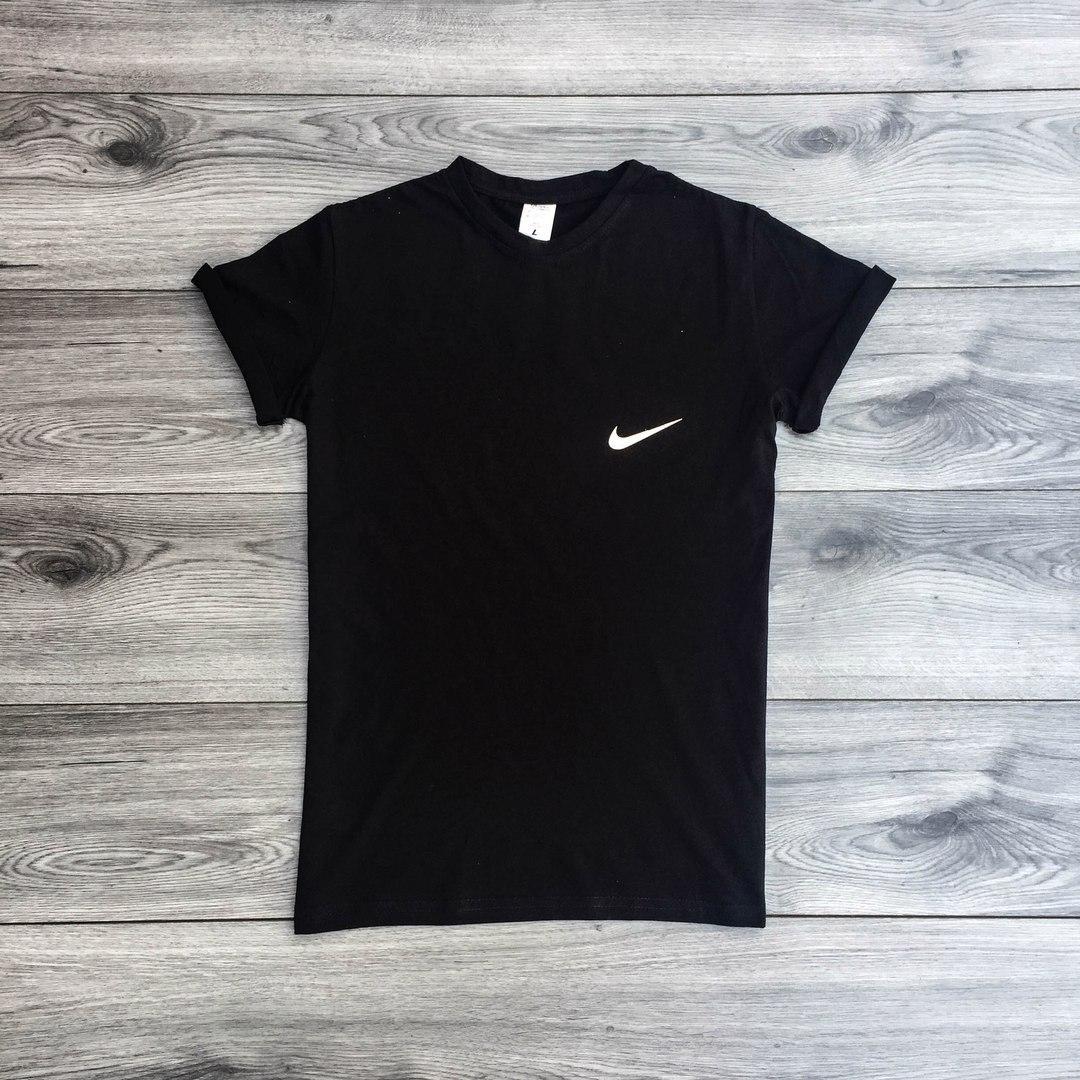 Футболка мужская Nike классическая (черная), ТОП-реплика