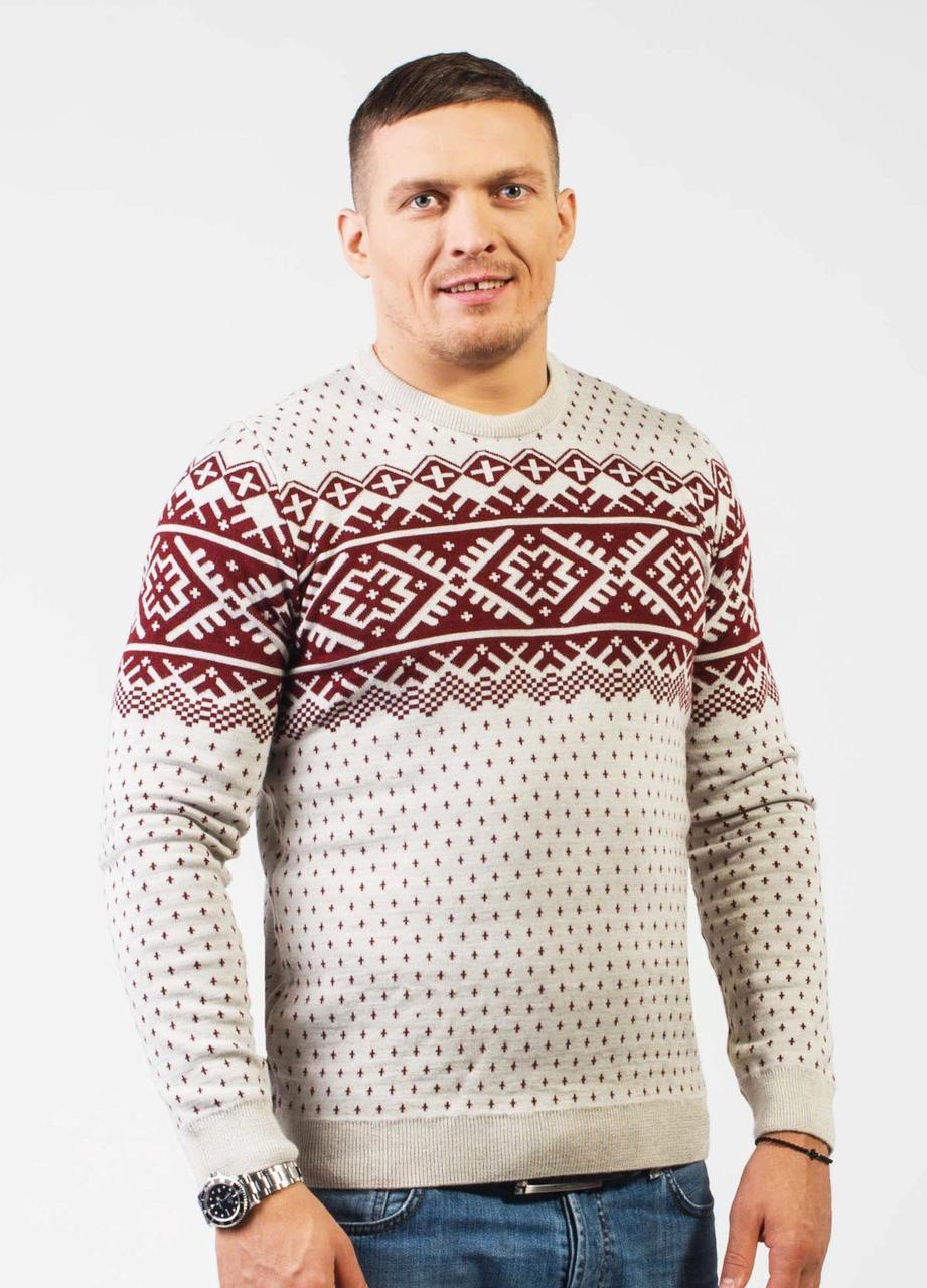 730ca634bb0 Мужской вязаный свитер с теплой подкладкой