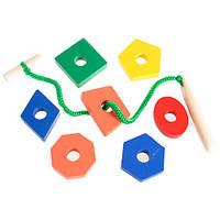 Деревянная игрушка Шнуровка 20 деталей