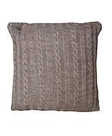 Декоративная подушка в вязаной наволочке Мокко