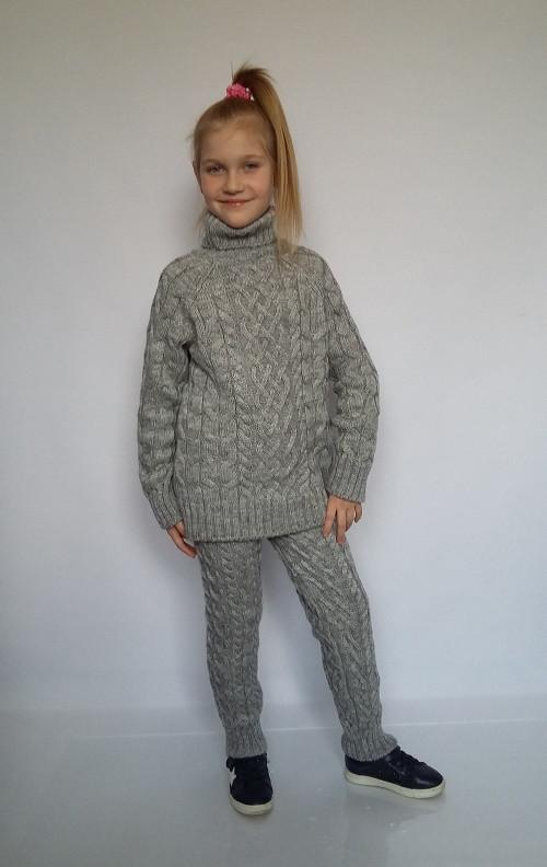 детский вязаный костюм серого цвета цена 450 грн купить в