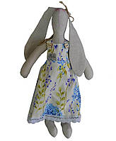Интерьерная игрушка зайка в платье луговые цветы