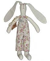 Интерьерная игрушка зайка в штанах Rosettes