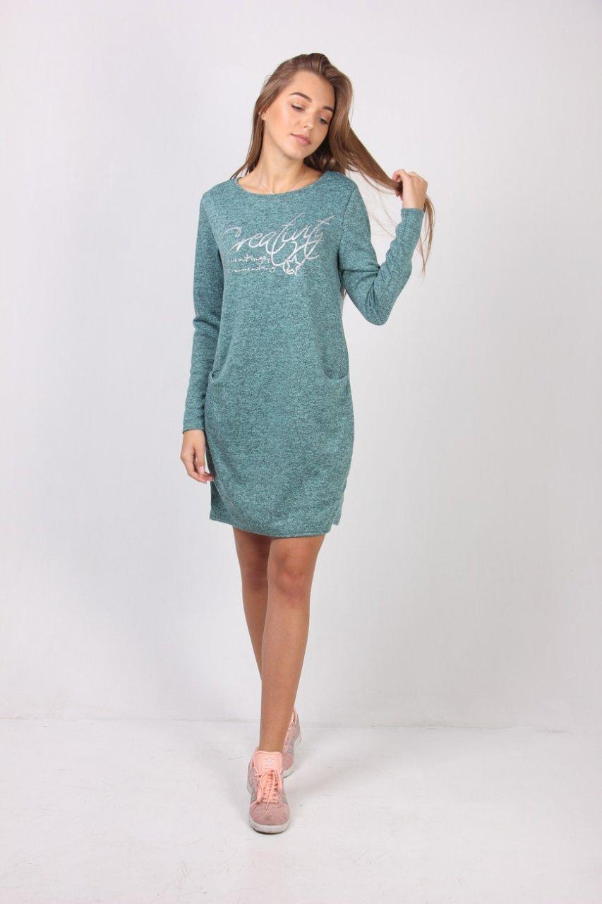 880940a17d68 Модное молодежное платье свободного фасона с карманами - Оптово-розничный  магазин одежды