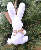 Текстильная игрушка ручной работы Заяц новогодний