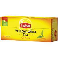 Чай чорний Lipton в пакетах, 25 пакетов, фото 1