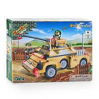 Конструктор BANBAO 8231 военная машина инер-я, 220 дет, фигурки 2шт