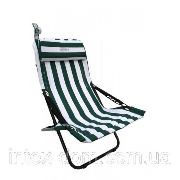 Раскладной алюминиевый стул с регулируемой спинкой  размеры