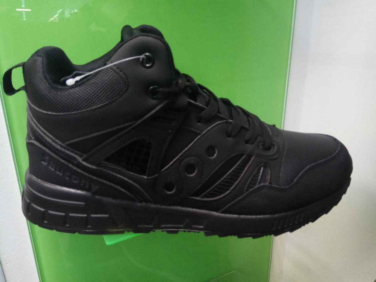 Зимние мужские кроссовки Saucony Grid Winter черные  продажа, цена в ... c4ef3ac0b6b
