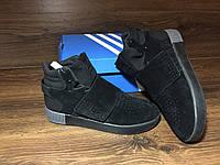 Мужские кроссовки Adidas Tubular Invader Black/Gray(ТОП РЕПЛИКА ААА+)