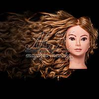 Голова-манекен для причесок, укладок и плетения, PROFI №108, 80% натуральный волос,  золотистый