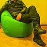 Пуф груша XXL зеленого цвета, фото 4