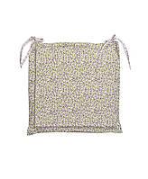 Подушка на стул с ушками Цветы Олива
