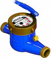Счётчик воды многоструйный крыльчатый (мокроход) MNK-UA-15E латунь