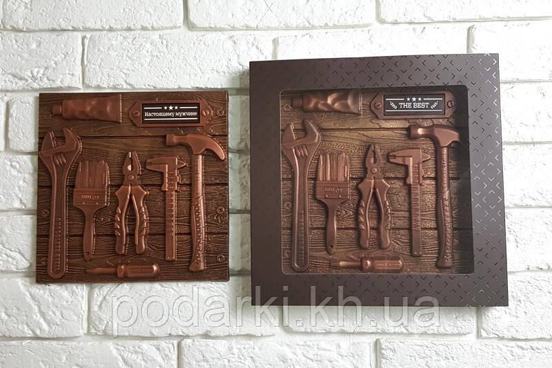Шоколадні інструменти для папи в коробці-пенал