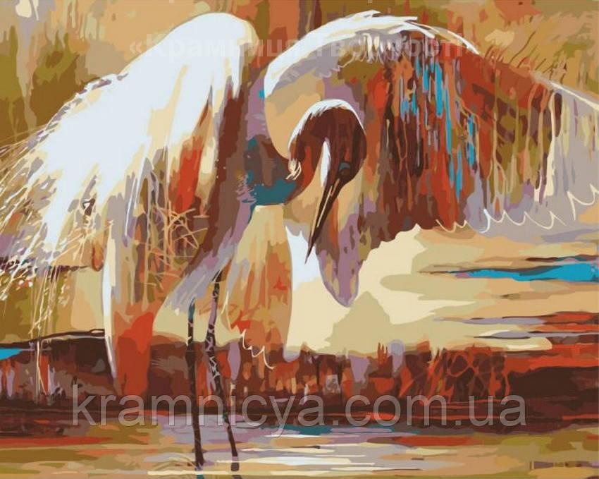 Раскраска по номерам Крылья счастья, 40х50см. (КНО4011)
