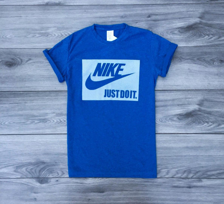 Футболка мужская  Nike just do it  летняя с коротким рукавом (голубая), ТОП-реплика