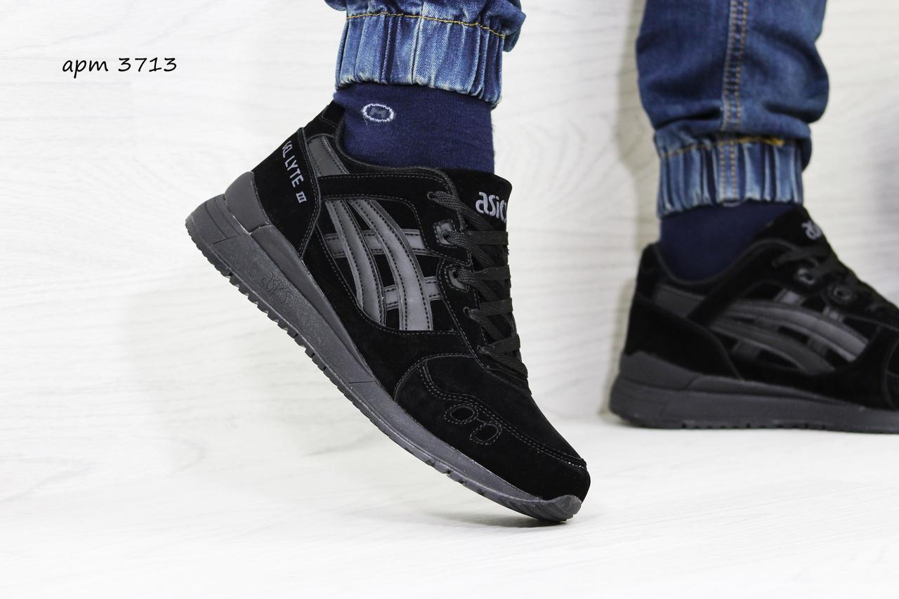 edc9d9e2b3d Мужские кроссовки Asics Gel Lyte 3 черные замшевые ( Реплика ААА+) ...