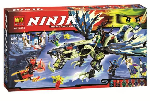 Конструктор Bela 10400 Ninjago ниндзяго Ниндзя Атака дракона Моро 659 дет