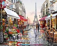 Картина раскраска по номерам Париж 50х40см с подрамником