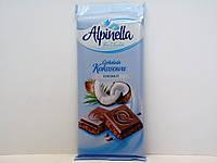 Молочный шоколад Alpinella с кокосом 90г., фото 1