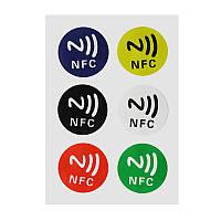 NFC метки NTAG 213 наклейки 6 штук