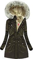 Парка куртка женская зимняя удлинённая