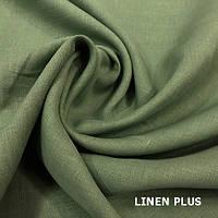 Льняная ткань хаки, 100% лен, цвет 8
