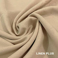 Бледно миндальная льняная ткань 100% лен, цвет 21