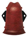 Внутренний угол к плинтусу ПВХ высотой 85 мм Угол наружный, Дуб рустик