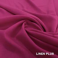 Розовая льняная ткань 100% лен, цвет 80