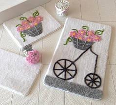 Набор ковриков для ванной 3 шт. ALESSIA прорезиненные