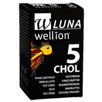 Тест-полоски для измерения уровня холестерина в крови Wellion LUNA Duo (Австрия)