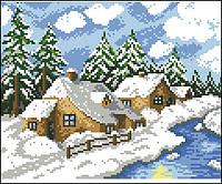 Заготовка для вишивки картини Зима