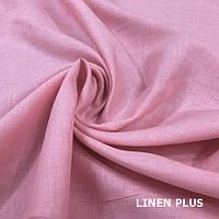 Нежно розовая льняная ткань 100% лен, цвет 266