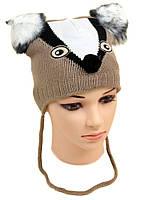 Детская вязаная шапка для мальчика
