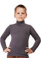 Гольф детский теплый на флисе размер универсал 02 темно серый СП