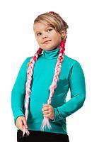 Гольф детский теплый на флисе размер универсал 01 изумруд СП