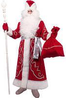 Костюм Деда Мороза Красный с аппликацией №5