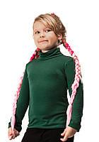 Гольф детский теплый на флисе размер универсал 01 темно зеленый СП