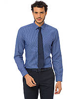 Синяя мужская рубашка LC Waikiki/ЛС Вайкики в белый горошек