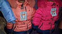 Пальто зимнее двохцветное