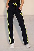155e0f45d035 550UAH. 550 грн. В наличии. Женские спортивные штаны ADIDAS (9819) тёмно- синие с салатовым код 078 Б