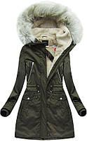 Парка куртка женская зимняя удлинённая  №1