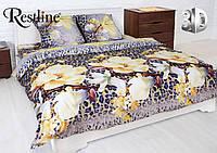 Постельное белье «Белла Роза» 3D на двуспальную кровать евро размера