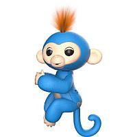 Интерактивная ручная обезьянка Fingerlings Wowwee Blue Голубая