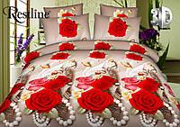 Постельное белье «Белла Роза» 3D на двуспальную кровать
