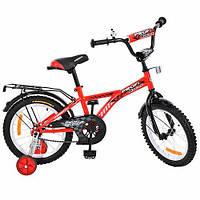 """Детский двухколесный велосипед Profi Racer Красный 16"""" (G1631) с багажником"""