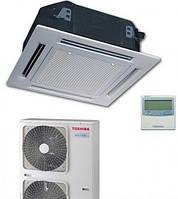 Кассетный инвенторный кондиционер  Toshiba Digital 10 кВт(-15) RAV-SM11*UT(P)-E/RAV-SM11*AT(P)-E/RBC-U31P6(P)-E/RBC-AMS41E