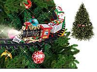 Рождественский поезд Ёлочная железная дорога украшение новогоднее